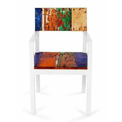 EcoChic Lifestyles Neptune Reclaimed Wood Arm Chair