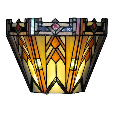 Wall Sconces Stained Glass : River of Goods Mission Style Stained Glass Wireless LED Wall Sconce & Reviews Wayfair