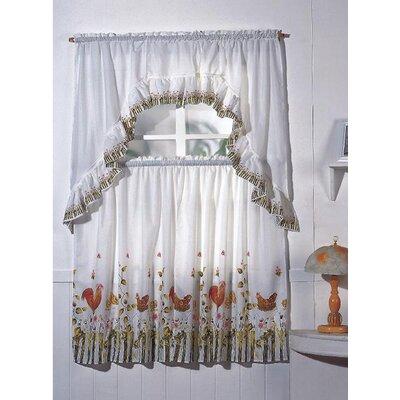 Kashi Home Rooster Drape Curtain Set Wayfair