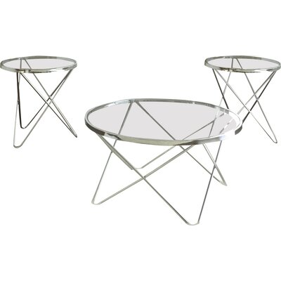 Brady Furniture Industries Hegewish 3 Piece Coffee Table Set