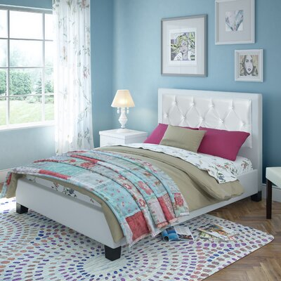 CorLiving San Antonio Upholstered Platform Bed
