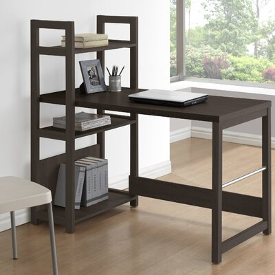 Three Posts Holbrook Writing Desk with Bookshelf