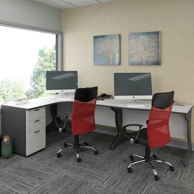 CorLiving Workspace Executive Desk Set with Cabinet Image