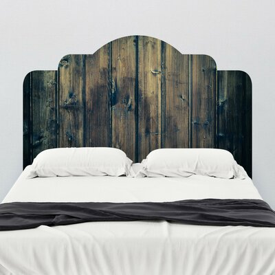 Walls need love stained wood adhesive headboard wall mural for Mural headboard