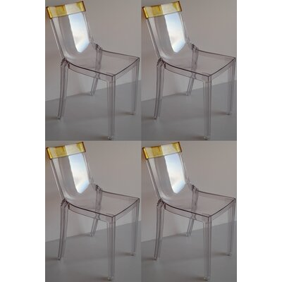Bienal Hi Cut Stackable Dining Chair Set (Set of 4)
