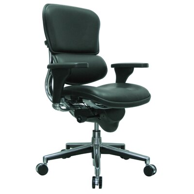 Eurotech Seating Ergohuman Mid-Back Leather Chair with Arms