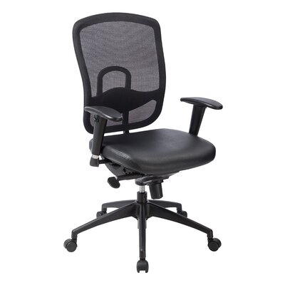 Eurotech Seating Mid-Back Mesh Executive Office Chair with Adjustable Arms