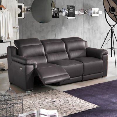 Wade Logan Lora Leather Reclining Loveseat