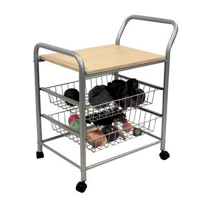 Zipcode™ Design Rosalie Kitchen Cart with Wood..