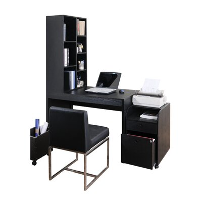 Zipcode™ Design Naomi 2 Piece Modular Computer Desk with Bookcase