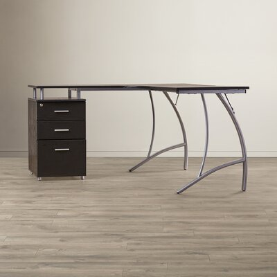Zipcode™ Design Computer Cornor Desk with File Cabinet
