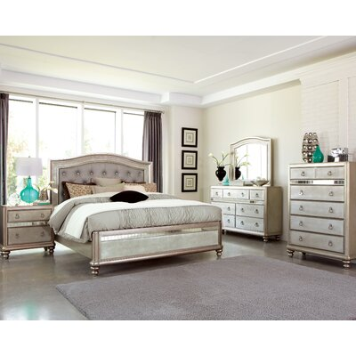 Wildon Home ® Bling Game Panel Customizable Bedroom Set