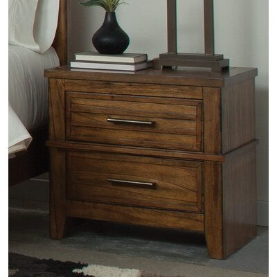 Wildon Home ® Cupertino 2 Drawer Nightstand