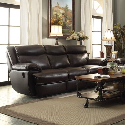 Wildon Home ® MacPherson Motion Leather Reclining Sofa