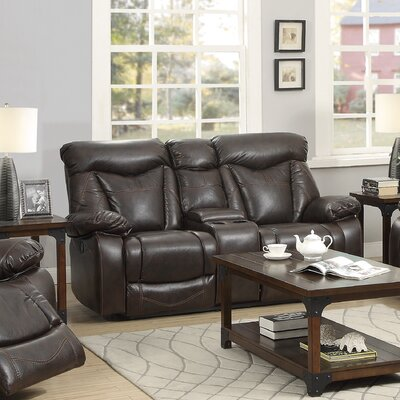 Wildon Home ® Zimmerman Power Leather Reclining Loveseat