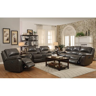 Wildon Home ® Wingfield Power Leather Reclining Sofa