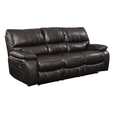 Wildon Home ® Willemse Motion Leather Reclining Sofa
