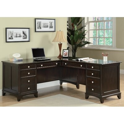 Wildon Home ® Garson L-Shaped Desk with 8 Drawers