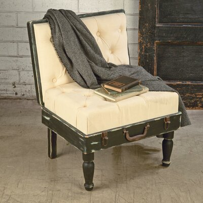 Tripar Wooden Suitecase Slipper Chair