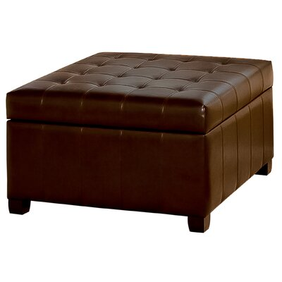 Home Loft Concepts Fiona Tufted Leather Storage Ottoman