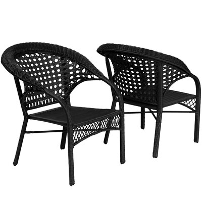 Home Loft Concepts Wicker Club Chair (Set of 2)