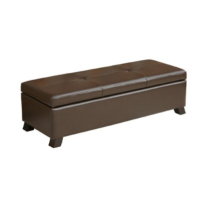 Home Loft Concepts Tarrison Leather Storage Ottoman
