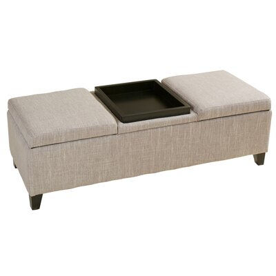 Home loft concepts henderson upholstered fabric storage for Storage ottomans fabric