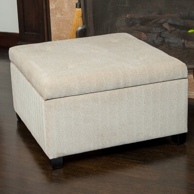 Home Loft Concepts Stephon Wheat Tufted Storage Ottoman