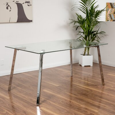 Wade Logan Ridgeway Glass Dining Table