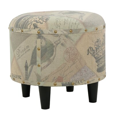 Red Barrel Studio Alchemist Round Fabric Ottoman