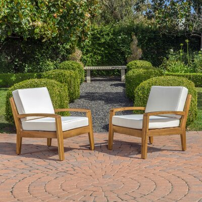 Home Loft Concepts Gorlomi Wooden Arm Chair (Set of 2)