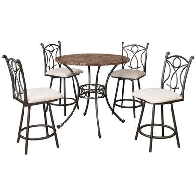 Hazelwood Home 5 Piece Pub Table Set
