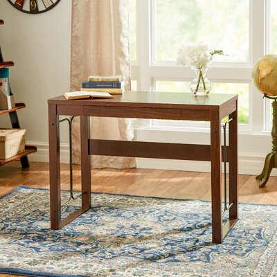 Andover Mills Weymouth Writing Desk With Drawer and Metal Accent