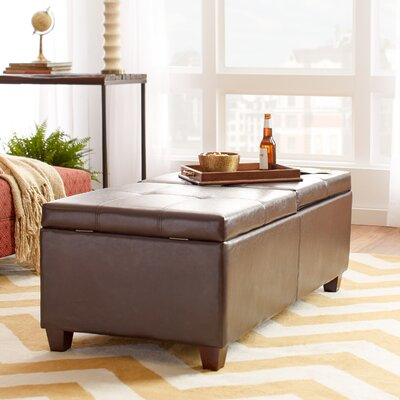 Andover Mills Falmouth Leather Storage Ottoman