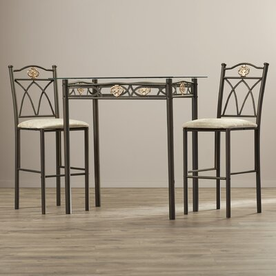 Andover Mills Cloville 3 Piece Counter Height Pub Table Set
