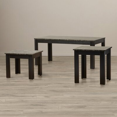 Charlton Home 3 Piece Coffee Table Set