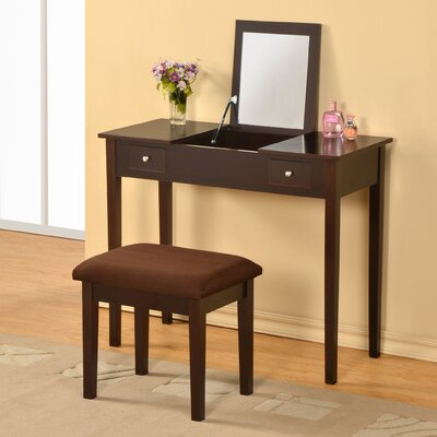 Andover Mills Healey Vanity Set with Mirror