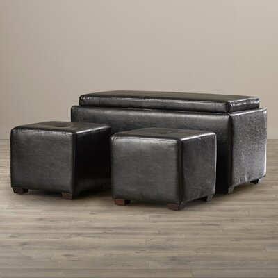 Andover Mills Huntington 3 Piece Storage Bench and Ottoman Set