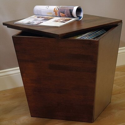 Andover Mills Farnham Walnut Storage Chairside Table