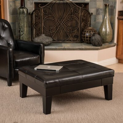 Andover Mills Leather Storage Ottoman
