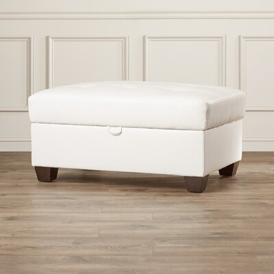 Andover Mills Corporate Bonded Leather Cocktail Ottoman
