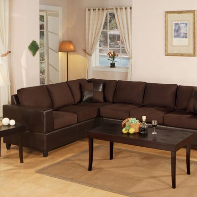 Andover Mills Corporate Reversible Microfiber Chaise Sectional