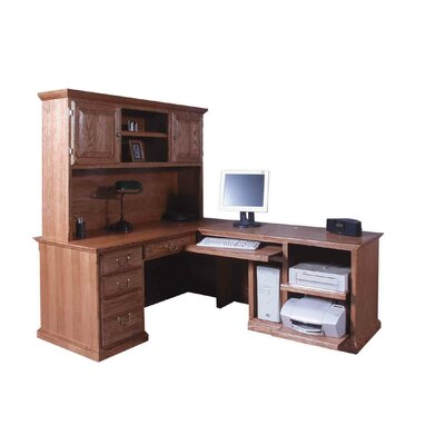 Forest Designs L-Shape Executive Desk with Hutch