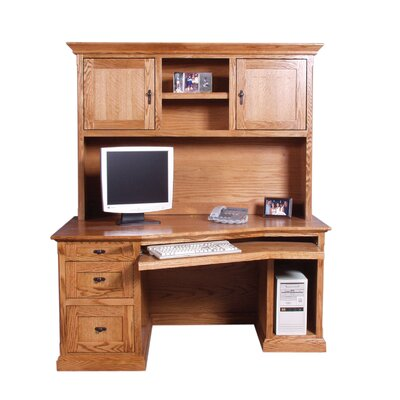 Forest Designs Angled Desk with Hutch