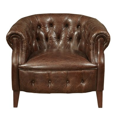 Highway To Home Gibson Leather Arm Chair