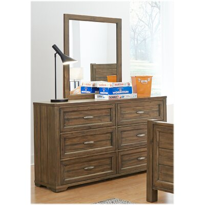 My Home Furnishings Logan 6 Drawer Double Dresser
