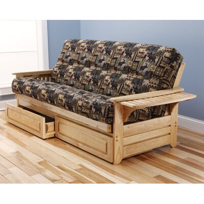 Kodiak Furniture Phoenix Peter's Cabin Storage Drawers Futon and Mattress