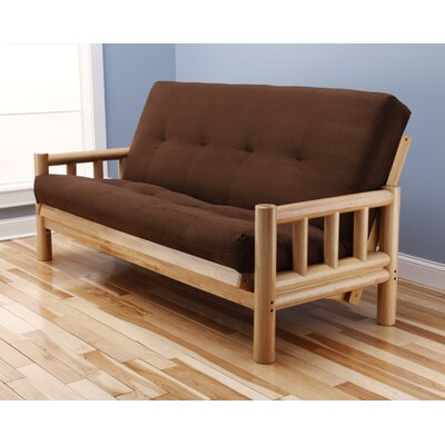 Kodiak Furniture Lodge Suede Futon and Mattress