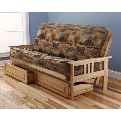 Kodiak Furniture Monterey Canadian Storage Drawers Futon and Mattress