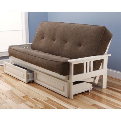 Kodiak Furniture Monterey Marmont Storage Drawers Futon and Mattress